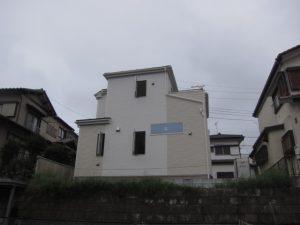 高台立地の建物
